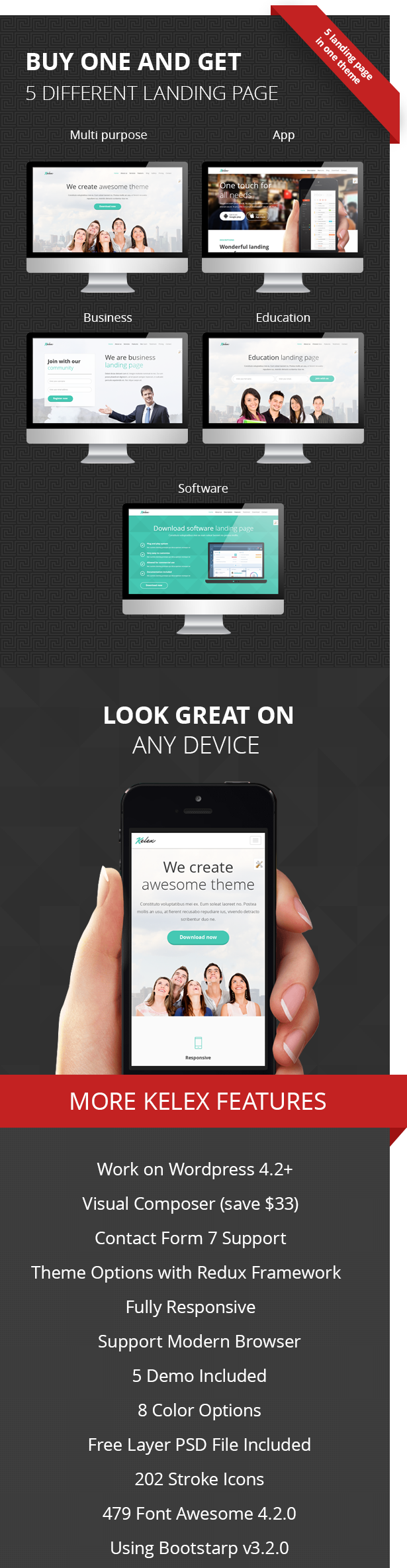 Kelex - Clean and Modern Landing Page WP Theme
